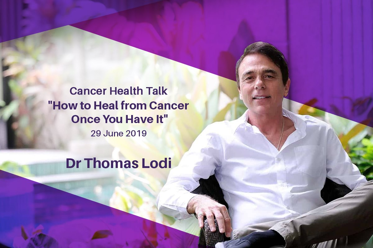 Dr. Thomas Lodi gives cancer health talk.